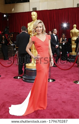 LOS ANGELES - MAR 2:  Kelly Ripa at the 86th Academy Awards at Dolby Theater, Hollywood & Highland on March 2, 2014 in Los Angeles, CA - stock photo