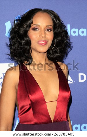 LOS ANGELES - MAR 21:  Kerry Washington at the 26th Annual GLAAD Media Awards at the Beverly Hilton Hotel on March 21, 2015 in Beverly Hills, CA - stock photo