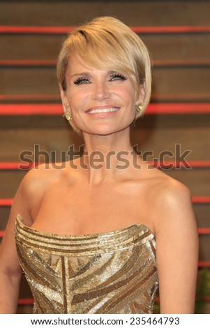 LOS ANGELES - MAR 2:  Kristin Chenoweth at the 2014 Vanity Fair Oscar Party at the Sunset Boulevard on March 2, 2014 in West Hollywood, CA - stock photo