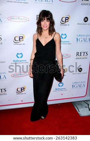 LOS ANGELES - MAR 18:  Lindsay Sloane at the Norma Jean Gala at the Taglyan Complex on March 18, 2015 in Los Angeles, CA - stock photo