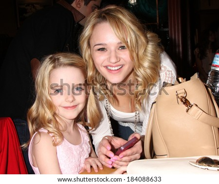 LOS ANGELES - MAR 25:  McKenna Grace, Hunter King at the Young and Restless 41st Anniversary Cake at CBS Television City on March 25, 2014 in Los Angeles, CA - stock photo