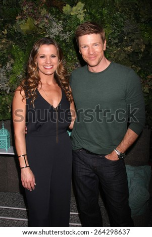 LOS ANGELES - MAR 26:  Melissa Clare Egan, Burgess Jenkins at the Young & Restless 42nd Anniversary Celebration at the CBS Television City on March 26, 2015 in Los Angeles, CA - stock photo
