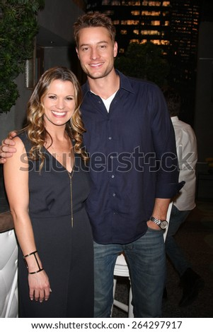 LOS ANGELES - MAR 26:  Melissa Clare Egan, Justin Hartley at the Young & Restless 42nd Anniversary Celebration at the CBS Television City on March 26, 2015 in Los Angeles, CA - stock photo