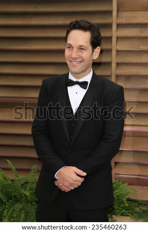 LOS ANGELES - MAR 2:  Paul Rudd at the 2014 Vanity Fair Oscar Party at the Sunset Boulevard on March 2, 2014 in West Hollywood, CA - stock photo