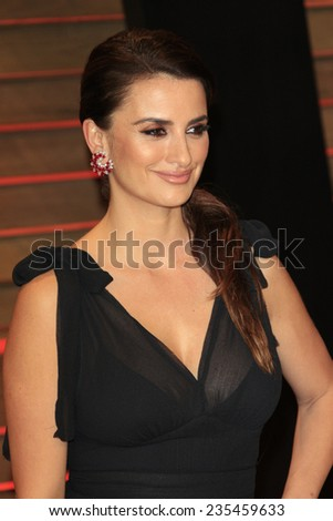 LOS ANGELES - MAR 2:  Penelope Cruz at the 2014 Vanity Fair Oscar Party at the Sunset Boulevard on March 2, 2014 in West Hollywood, CA - stock photo