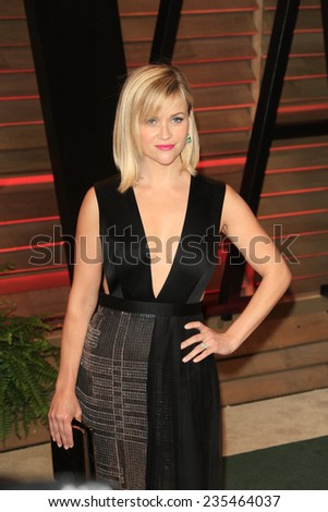 LOS ANGELES - MAR 2:  Reese Witherspoon at the 2014 Vanity Fair Oscar Party at the Sunset Boulevard on March 2, 2014 in West Hollywood, CA - stock photo