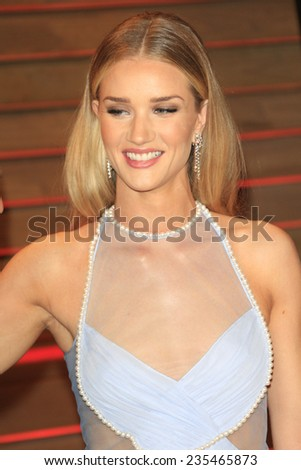 LOS ANGELES - MAR 2:  Rosie Huntington-Whiteley at the 2014 Vanity Fair Oscar Party at the Sunset Boulevard on March 2, 2014 in West Hollywood, CA - stock photo