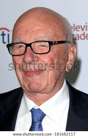 LOS ANGELES - MAR 11:  Rupert Murdoch at the Television Academy's 23rd Hall Of Fame Induction Gala at Beverly Wilshire Hotel on March 11, 2014 in Beverly Hills, CA - stock photo