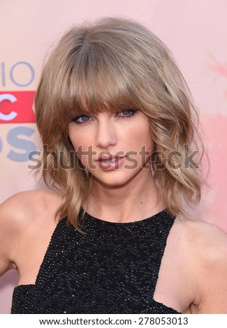 LOS ANGELES - MAR 29:  Taylor Swift arrives to the 2015 iHeartRadio Music Awards  on March 29, 2015 in Hollywood, CA                 - stock photo