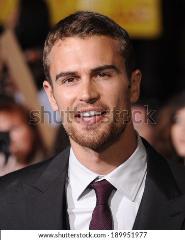 LOS ANGELES - MAR 18:  Theo James arrives to the 'Divergent' Los Angeles Premiere  on March 18, 2014 in Westwood, CA                 - stock photo