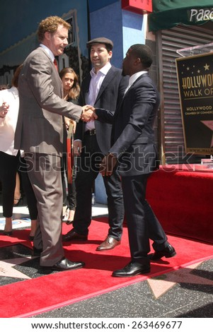 LOS ANGELES - MAR 24:  Will Ferrell, Kevin Hart at the Will Ferrell Hollywood Walk of Fame Star Ceremony at the Hollywood Boulevard on March 24, 2015 in Los Angeles, CA - stock photo
