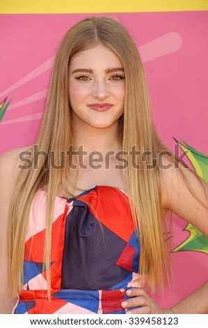 LOS ANGELES - MAR 23 - Willow Shields arrives at the Nickelodeons 2013 Kids Choice Awards on March 23,  2013 in Los Angeles, CA              - stock photo