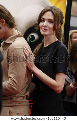 LOS ANGELES - MAY 22: Angelina Jolie at the premiere of Kung Fu Panda 2 at the Grauman's Chinese Theater in Los Angeles, California on May 22, 2011. - stock photo