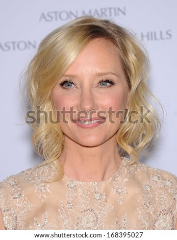 LOS ANGELES - MAY 03:  Anne Heche arrives to the Race To Erase MS 2013  on May 03, 2013 in Century City, CA                 - stock photo
