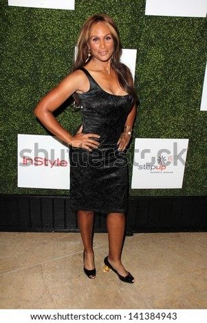 LOS ANGELES - MAY 31:  Beverly Johnson arrives at the 10th Annual Inspiration Awards Luncheon at the Beverly Hilton Hotel on May 31, 2013 in Beverly Hills, CA - stock photo