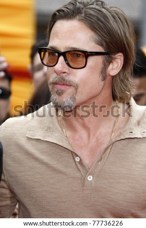LOS ANGELES - MAY 22:  Brad Pitt at the premiere of Kung Fu Panda 2 at the Grauman's Chinese Theater in Los Angeles, California on May 22, 2011. - stock photo
