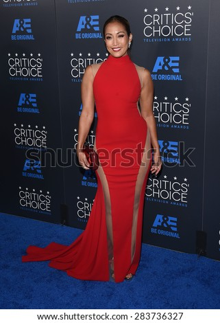 LOS ANGELES - MAY 31:  Carrie Ann Inaba arrives to the Critic's Choice Television Awards 2015  on May 31, 2015 in Hollywood, CA                 - stock photo