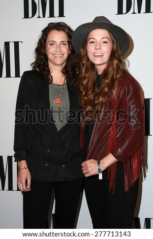 LOS ANGELES - MAY 12:  Catherine Carlile, Brandi Carlile at the BMI Pop Music Awards at the Beverly Wilshire Hotel on May 12, 2015 in Beverly Hills, CA - stock photo