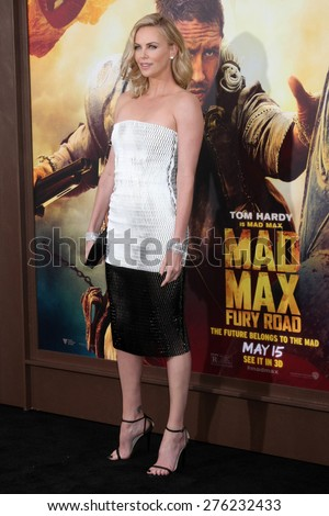 LOS ANGELES - MAY 7:  Charlize Theron at the Mad Max: Fury Road Los Angeles Premiere at the TCL Chinese Theater IMAX on May 7, 2015 in Los Angeles, CA - stock photo