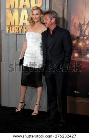 LOS ANGELES - MAY 7:  Charlize Theron, Sean Penn at the Mad Max: Fury Road Los Angeles Premiere at the TCL Chinese Theater IMAX on May 7, 2015 in Los Angeles, CA - stock photo