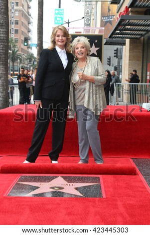 LOS ANGELES - MAY 19:  Deidre Hall, Susan Seaforth Hayes at the Deidre Hall Hollywood Walk of Fame Ceremony at Hollywood Blvd. on May 19, 2016 in Los Angeles, CA - stock photo
