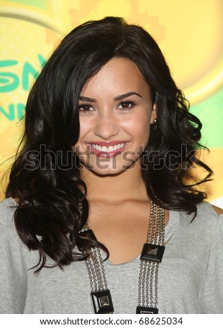 LOS ANGELES - MAY 15:  Demi Lovato arrives to Disney ABC Television Group Summer Press Junket on May 15, 2010 in Burbank, CA - stock photo