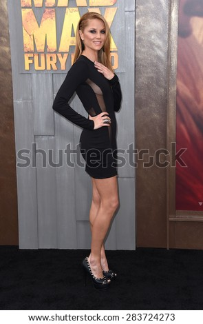 """LOS ANGELES - MAY 07:  Ellen Hollman arrives to the """"Mad Max: Fury Road"""" Los Angeles Premiere  on May 7, 2015 in Hollywood, CA                 - stock photo"""