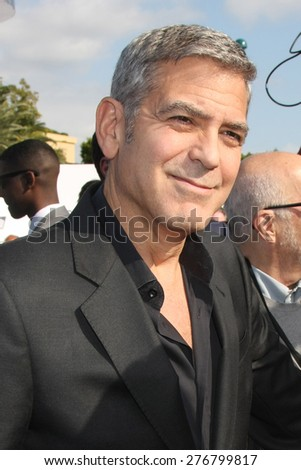 "LOS ANGELES - MAY 9:  George Clooney at the ""Tomorrowland"" Premiere at the AMC Downtown Disney on May 9, 2015 in Lake Buena Vista, CA - stock photo"