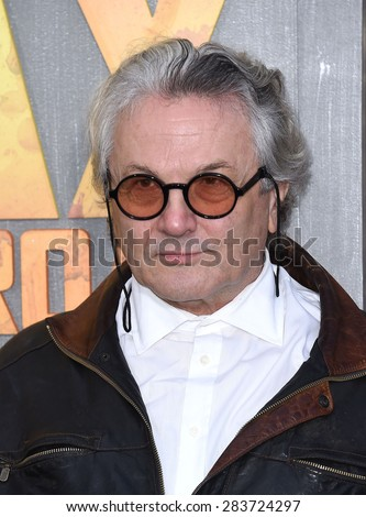 """LOS ANGELES - MAY 07:  George Miller arrives to the """"Mad Max: Fury Road"""" Los Angeles Premiere  on May 7, 2015 in Hollywood, CA                 - stock photo"""