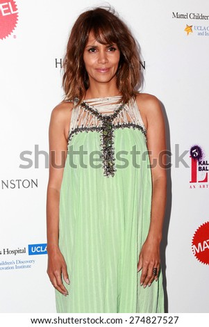 LOS ANGELES - MAY 2:  Halle Berry at the 3rd Annual Mattel Children's Hospital Kaleidoscope Ball at the 3Labs on May 2, 2015 in Culver City, CA - stock photo