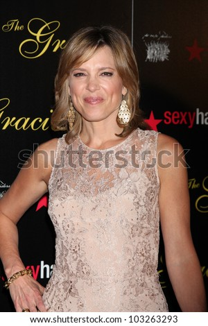 LOS ANGELES - MAY 22:  Hannah Storm arrives at the 37th Annual Gracie Awards Gala at Beverly Hilton Hotel on May 22, 2012 in Beverly Hllls, CA - stock photo