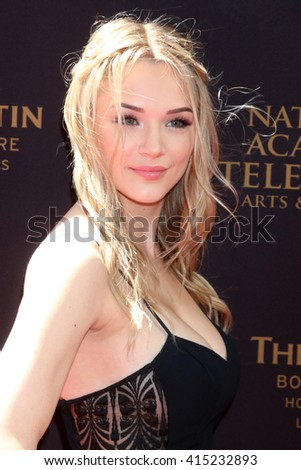 LOS ANGELES - MAY 1:  Hunter King at the 43rd Daytime Emmy Awards at the Westin Bonaventure Hotel  on May 1, 2016 in Los Angeles, CA - stock photo