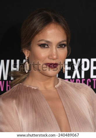 """LOS ANGELES - MAY 14:  JENNIFER LOPEZ arrives to the """"""""What To Expect When You're Expecting"""" Los Angeles Premiere  on May 14, 2012 in Hollywood, CA                 - stock photo"""