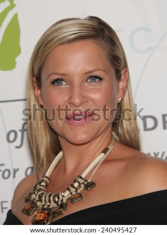 LOS ANGELES - MAY 21:  JESSICA CAPSHAW arrives to United Friends of the Children  on May 21, 2012 in Beverly Hills, CA                 - stock photo