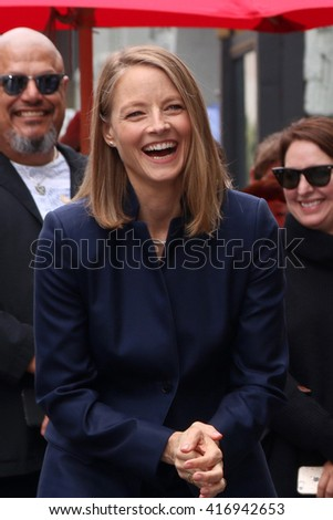 LOS ANGELES - MAY 4:  Jodie Foster at the Jodie Foster Hollywood Walk of Fame Star Ceremony at the TCL Chinese Theater IMAX on May 4, 2016 in Los Angeles, CA - stock photo