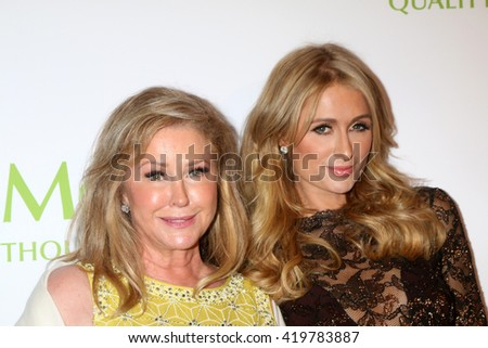 LOS ANGELES - MAY 12:  Kathy Hilton, Paris Hilton at the Power Up Gala at the Beverly Wilshire Hotel on May 12, 2016 in Beverly Hills, CA - stock photo