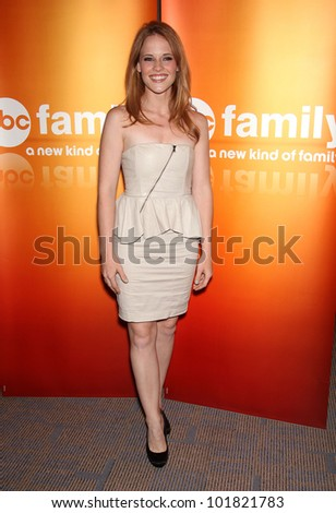 LOS ANGELES - MAY 15:  Katie LeClerc arrives to the ABC Disney May Press Junket  on May 14, 2011 in Glendale, CA - stock photo