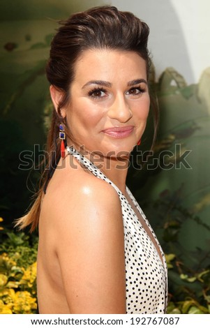 """LOS ANGELES - MAY 3:  Lea Michele at the """"Legends of Oz: Dorothy's Return"""" Los Angeles Premiere at Village Theater on May 3, 2014 in Westwood, CA - stock photo"""