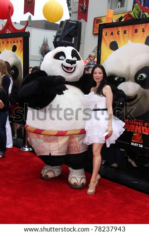 """LOS ANGELES - MAY 22:  Lucy Liu arriving at the """"Kung Fu Panda 2"""" Los Angeles Premiere at Grauman's Chinese Theatre on May 22, 2011 in Los Angeles, CA - stock photo"""