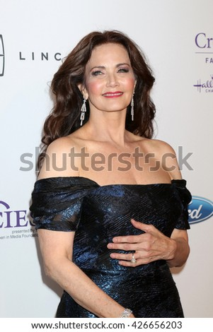 LOS ANGELES - MAY 24:  Lynda Carter at the 41st Annual Gracie Awards Gala at Beverly Wilshire Hotel on May 24, 2016 in Beverly Hills, CA - stock photo