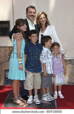 LOS ANGELES - MAY 6: Marlee Matlin, her husband Kevin Grandalski and their children as Marlee Matlin is honored with a star on the Hollywood Walk of Fame in Los Angeles, California on May 6, 2009 - stock photo