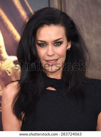 """LOS ANGELES - MAY 07:  Megan Gale arrives to the """"Mad Max: Fury Road"""" Los Angeles Premiere  on May 7, 2015 in Hollywood, CA                 - stock photo"""