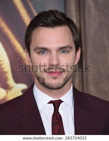 "LOS ANGELES - MAY 07:  Nicholas Hoult arrives to the ""Mad Max: Fury Road"" Los Angeles Premiere  on May 7, 2015 in Hollywood, CA                 - stock photo"