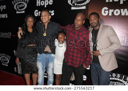 "LOS ANGELES - MAY 3:  Ray J Norwood, family at the ""Where Hope Grows"" Los Angeles Premiere at the ArcLight Hollywood Theaters on May 3, 2015 in Los Angeles, CA - stock photo"