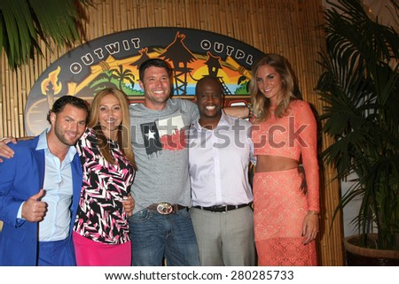 LOS ANGELES - MAY 20:  Rodney Lavoie Jr, Carolyn Rivera, Mike Holloway, Will Sims II, Sierra Dawn Thomas at the Survivor Season 30 Finale at the CBS Radford on May 20, 2015 in Studio City, CA - stock photo