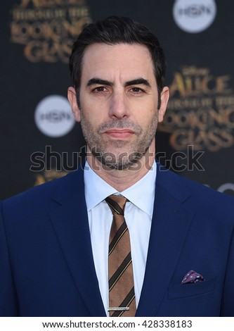"LOS ANGELES - MAY 23:  Sacha Baron Cohen arrives to the ""Alice Through The Looking Glass"" American Premiere  on May 23, 2016 in Hollywood, CA.                 - stock photo"