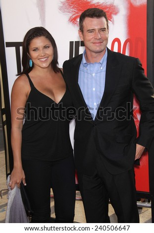 """LOS ANGELES - MAY 30:  SCOTT FOLEY & WIFE arrives to """"True Blood"""" Season 5 Premiere  on May 30, 2012 in Hollywood, CA                 - stock photo"""