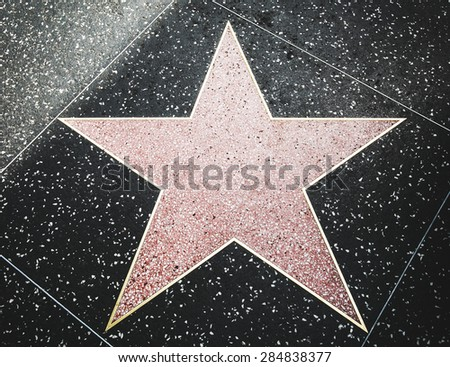 LOS ANGELES - MAY 1: Star on the Hollywood Walk of Fame at Hollywood Blvd on May 1, 2015 in Hollywood, Los Angeles, CA.  - stock photo