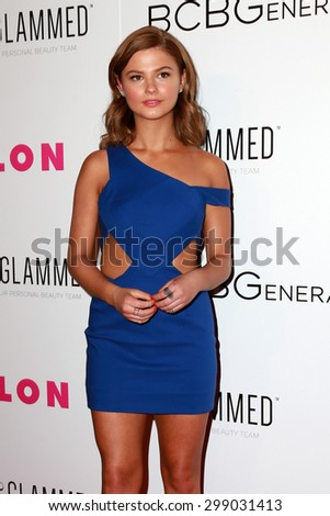 LOS ANGELES - MAY 7:  Stefanie Scott at the NYLON Magazine Young Hollywood Issue Party  at the HYDE Sunset on May 7, 2015 in West Hollywood, CA - stock photo