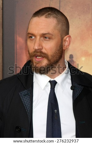 LOS ANGELES - MAY 7:  Tom Hardy at the Mad Max: Fury Road Los Angeles Premiere at the TCL Chinese Theater IMAX on May 7, 2015 in Los Angeles, CA - stock photo